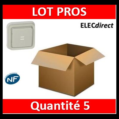 Legrand Plexo - Poussoir NO + NF lumineux Prog Plexo complet encastré blanc - 10A - 069861x5