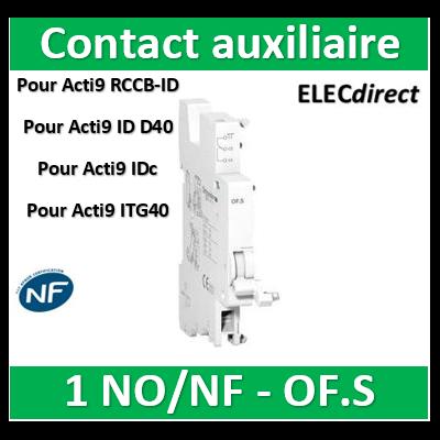 Schneider - Contact auxiliaire 1 OFS ouvert/fermé - A9N26923