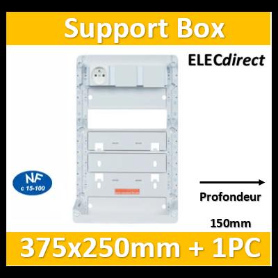 Casanova -  Support BOX 375 x 250 mm équipée d'un bandeau 1PC  - ZA375
