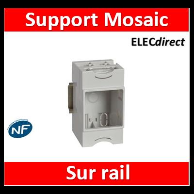 Legrand - Support universel modulaire pour montage appareillage Mosaic 2 modules sur rail - 412950