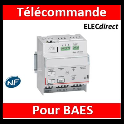Legrand - Télécommande modulaire multifonctions connectée non polarisée IP pour bloc d'éclairage et alarme incendie - 062520