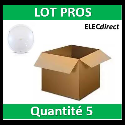 Vision-EL - LED Hublot + Détecteur IR Ø296 18W 1450LM 4500°K IP65 Blanc - 779002x5