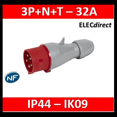 Legrand - Fiche mobile droite P17 IP44 32A - 380V~ à 415V~ - 3P+N+T - 555239