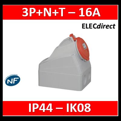 Legrand - Prise saillie fixe P17 IP44 16A - 380V~ à 415V~ - 3P+N+T - 555259