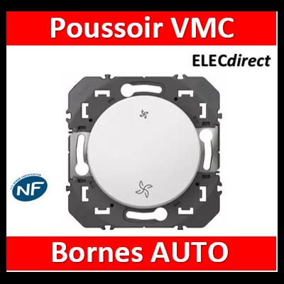 Legrand - Commande VMC poussoir dooxie finition blanc - 600006