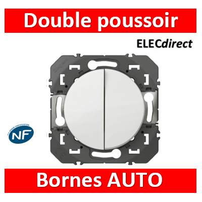 Legrand - Double Poussoir simple dooxie 6A 250V~ finition blanc - 600008
