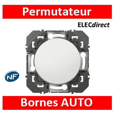 Legrand - Permutateur dooxie 10AX 250V~ finition blanc - 600037