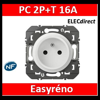 Legrand - Prise de courant easyréno 2P+T faible profondeur dooxie 16A finition blanc - 600328