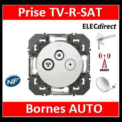Legrand - Prise TV-R-SAT 1 câble dooxie finition blanc - 600353