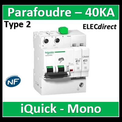 Schneider - Acti9, iQuick PRD40r parafoudre 1P+N avec report signalisation - A9L16292