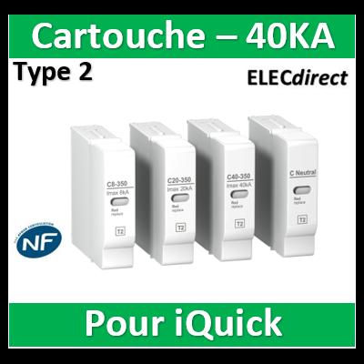 Schneider - Cartouche pour parafoudre C 40-350 1,4kV - A9L16310