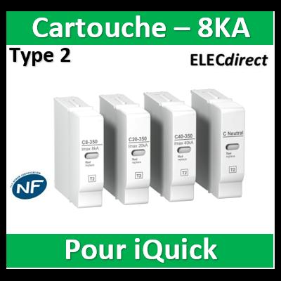 Schneider - Cartouche pour parafoudre C 8-350 1,1kV - A9L16312