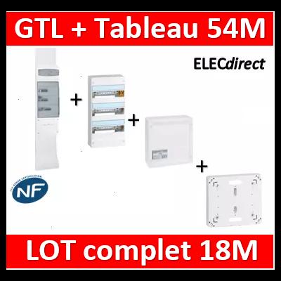 Legrand - GTL 18 + tableau 54M + VDI 4RJ45 + platine - 030067+401223+418248+401191