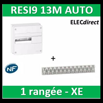 Schneider - Resi9 - coffret 13M - 1R + peignes PH+N Schneider - AUTO XE - R9H13401+R9EXHS13