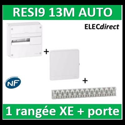 Schneider - Resi9 - coffret 13M - 1R + peignes PH+N Schneider - AUTO XE + porte - R9H13401+R9H13421+R9EXHS13