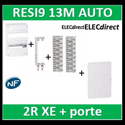 Schneider - Resi9 - coffret 13M - 2R + Peignes H. et V. pour DPN XE + porte - R9H13402+R9EXV+R9EXHS13x2+R9H13422