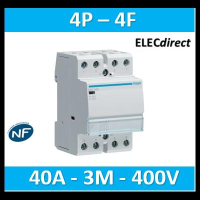 Hager - Contacteur 40A, 4F, 230V - ESC440
