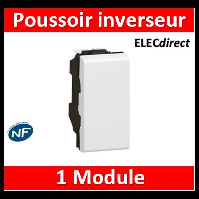 Legrand Mosaic - Poussoir inverseur 6A 250V~ Mosaic 1 module - blanc - 077031