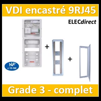 Casanova - Tableau C-Start 625 - 9RJ45 Grade 3 TV équipé DTI + Support Box- 2 coiffes + 2 PC + BAC + porte