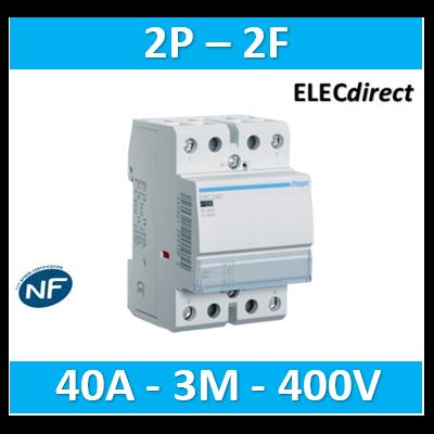 Hager - Contacteur 40A, 2F, 230V - ESC240