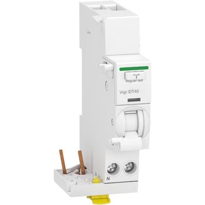 Schneider - Acti9 iDT40 - module différentiel Vigi - départ iDT40 - 1P+N 40A 30mA type AC - A9Y62640