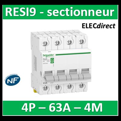Schneider - Interrupteur-sectionneur tétrapolaire 63A - RESI9 XP - 4P - R9PS463