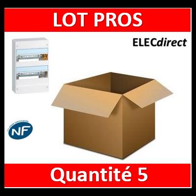 Legrand - Pack PROS - Tableau électrique 2 rangées - 26M - 401212x5