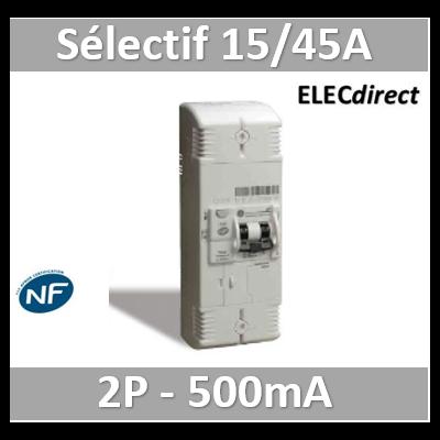 Digital - Disjoncteur de branchement EDF 15/45A sélectif - 500mA - bipolaire - 03632