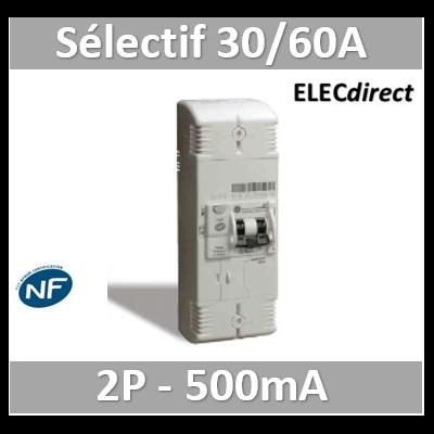Digital - Disjoncteur de branchement EDF 30/60A sélectif - 500mA - bipolaire - 03634