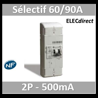Digital - Disjoncteur de branchement EDF 60/90A sélectif - 500mA - bipolaire - 03636