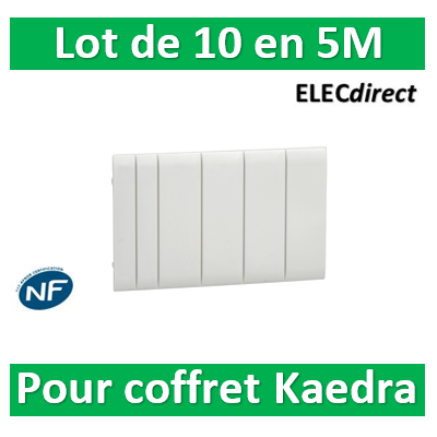 Schneider - Kaedra - obturateur (lot de 10 x 5 modules) - 13940