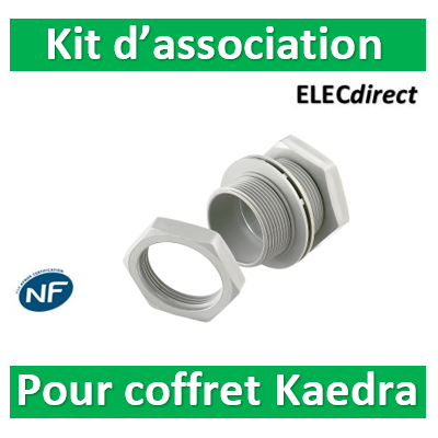 Schneider - Kaedra - lot d'association: 2 manchons + 4 écrous + 4 joints - 13934