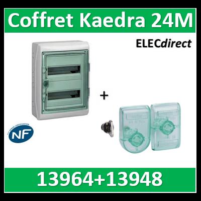 Schneider - Coffret Kaedra 2 rangées 24M - IP65/IK09 + serrure à clé - 13964+13948