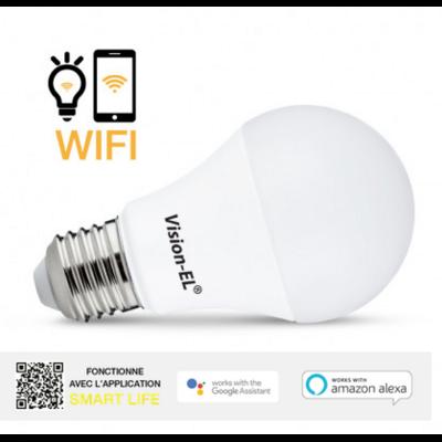 Vision-EL - Ampoule LED E27 Connectée WIFI 11W 4000°K + Dimmable - 738895
