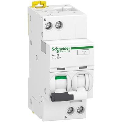 Schneider - Acti9 iDD40K - disjoncteur différentiel - 1P+N C 20A 4500A/4,5A 300mA type AC - A9DK5620