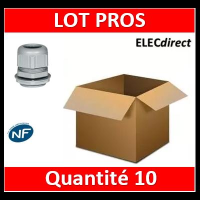 Legrand - Presse-étoupe plastique - IP68 - ISO 16 - RAL 7001 - 098001x10