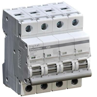 Disjoncteur 32A - 4P - 6kA - courbe C - 02054