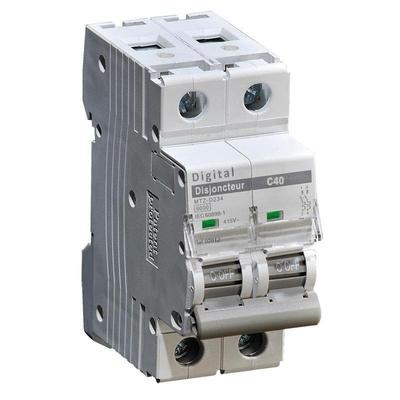 Disjoncteur 40A - 2P - 10kA - courbe C - 02132