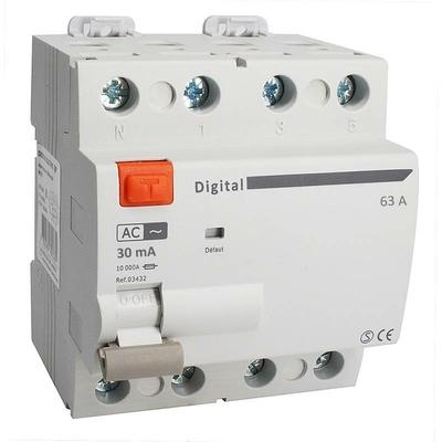 Digital - Interrupteur différentiel 4P / 63A / 0,03A (30mA) / type AC - 03434