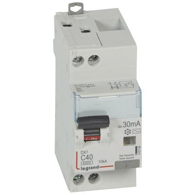 Legrand Disjoncteur différentiel monobloc DX³6000 10kA arrivée haute et départ bas à vis U+N 230V~ - 40A - typeAC 30mA 410789