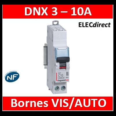 DISJONCTEUR LEGRAND DNX3 PH/N10A - AUTO/VIS - 6kA - 406881