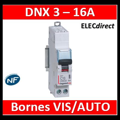 DISJONCTEUR LEGRAND DNX3 PH/N 16A - AUTO/VIS - 6kA - 406883