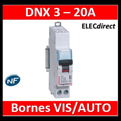 DISJONCTEUR LEGRAND DNX3 PH/N 20A - AUTO/VIS - 6kA - 406884