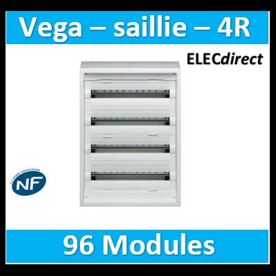 Hager - Coffret, NewVegaD, 750x550x193mm, saillie, 4 rangées, 96 modules - FD42DN