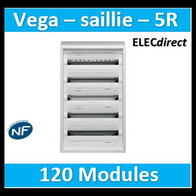 Hager - Coffret, NewVegaD, 900x550x193mm, saillie 5 rangées 120 modules - FD52DN