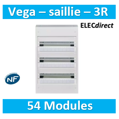 Hager - Coffret Vega largeur 18 modules hauteur 3 rangées - VB318A