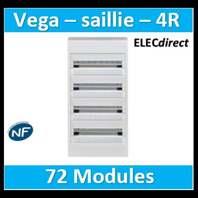 Hager -  Coffret Vega largeur 18 modules hauteur 4 rangées - VB418A