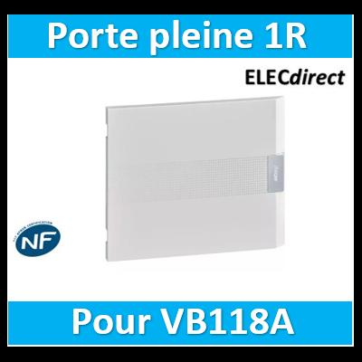 Hager - Porte opaque pour coffret vega largeur 18 modules hauteur 1 rangée - VZ118P