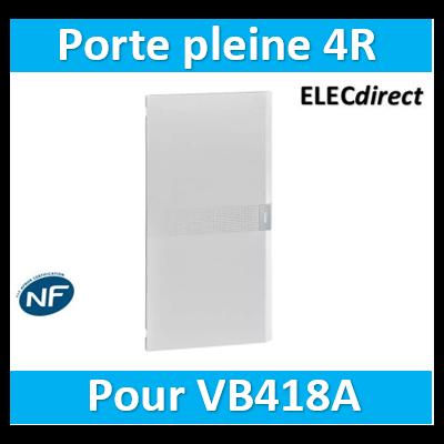 Hager  VZ418P Porte opaque pour coffret vega largeur 18 modules hauteur 4 rangées VZ418P