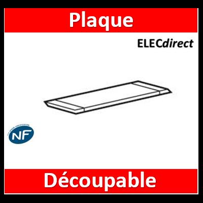 Legrand - Plaque d'entrée de câble découpable pour coffret XL³160 métal - 020020